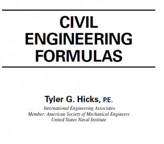 Civil Engineering Formulas E-Book Download