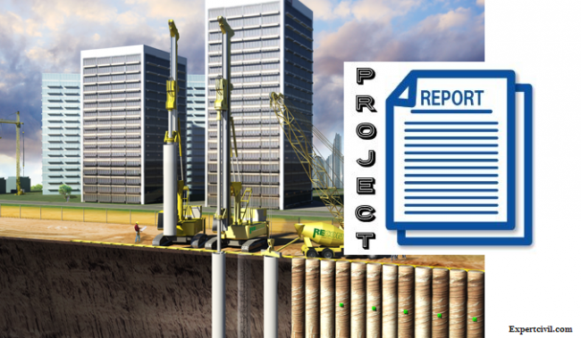 Secant Pile Construction Project Report Download